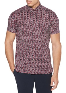 Perry Ellis Cactus Poplin Button-Down Shirt