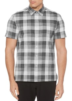 Perry Ellis Checkered Button-Down Shirt
