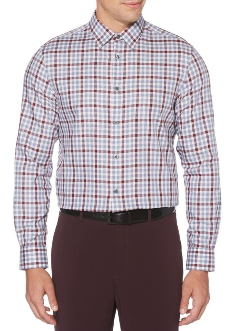 Perry Ellis Checkered Long-Sleeve Shirt