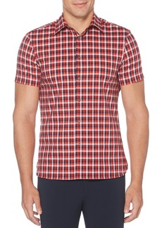 Perry Ellis Checkered Short-Sleeve Shirt