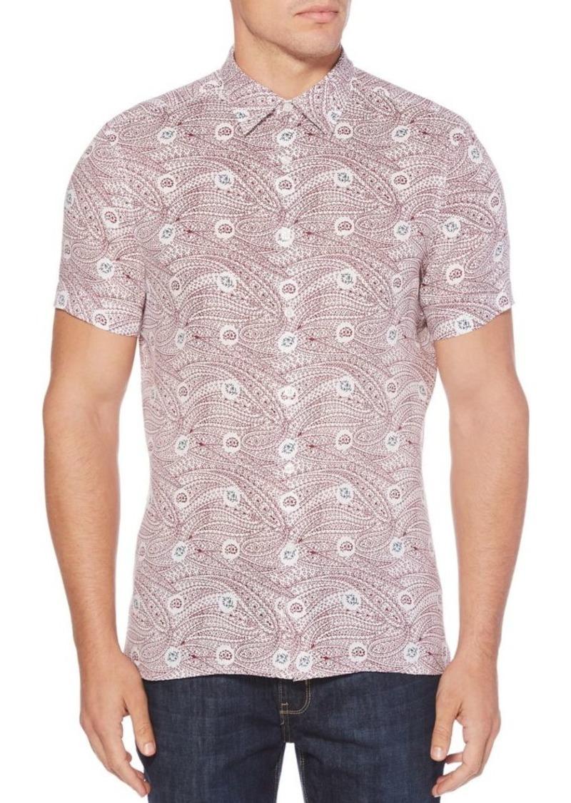 Perry Ellis Condensed Paisley Short Sleeve Shirt