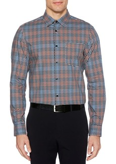 Perry Ellis Dobby Plaid Shirt