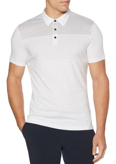 Perry Ellis Dotted Short-Sleeve Cotton Polo