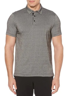 Perry Ellis Dotted Stripe Jacquard Polo