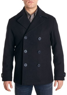 Perry Ellis Double-Breasted Peacoat