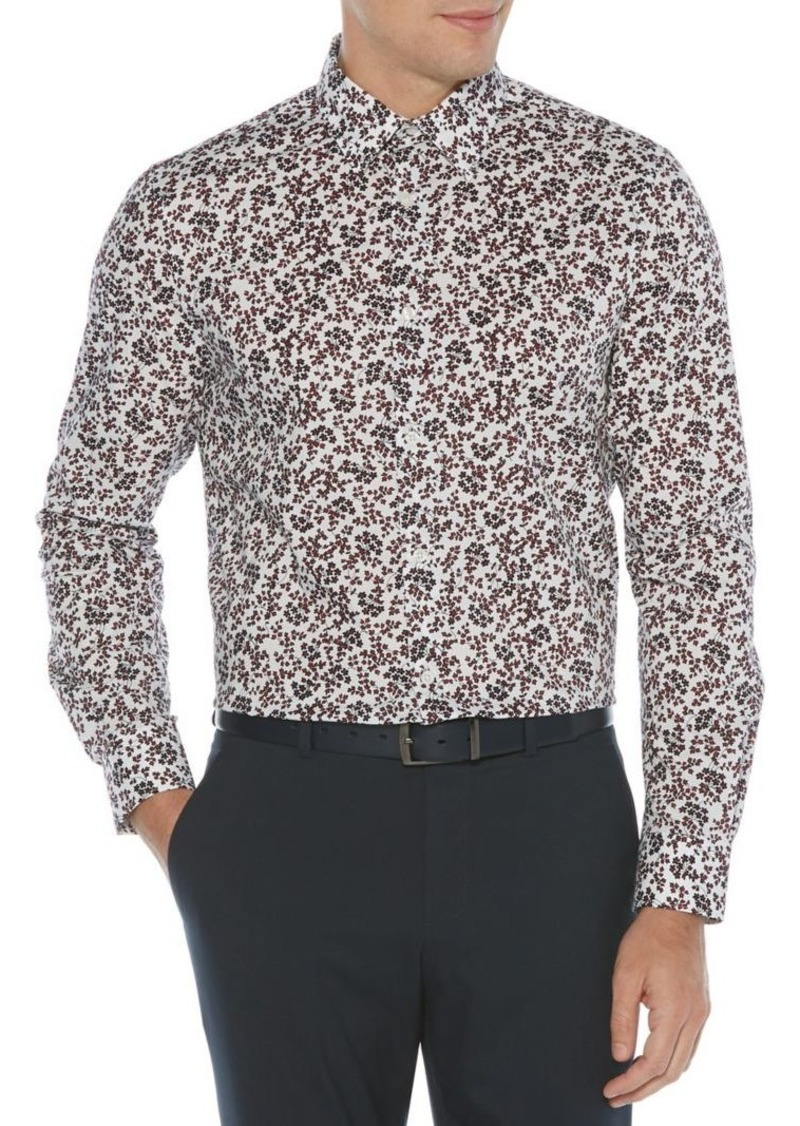 Perry Ellis Essentials Regular-Fit Blossom-Print Shirt