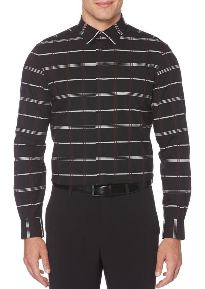Perry Ellis Essentials Regular-Fit Plaid Shirt