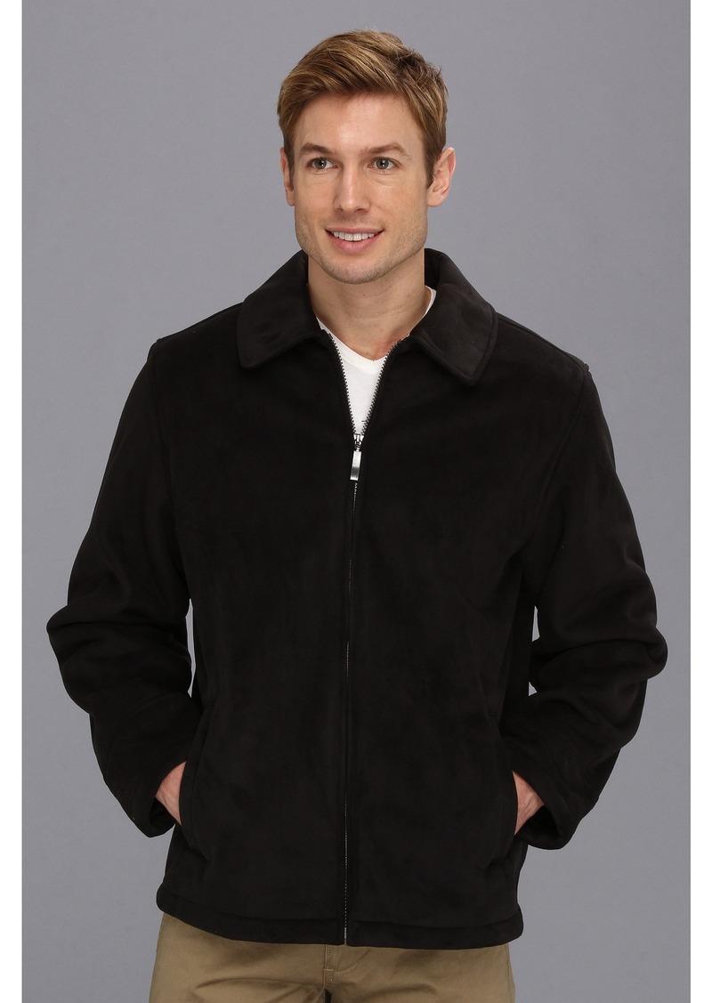 Perry Ellis Faux Shearling Zip Front Coat