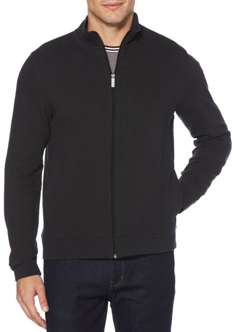 Perry Ellis Full-Zip Cotton-Blend Jacket
