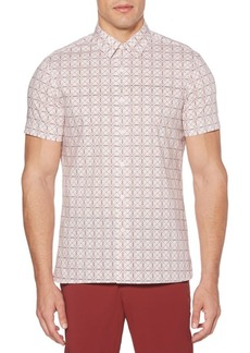 Perry Ellis Geometric-Print Button-Down Shirt