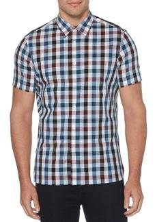 Perry Ellis Gingham Short-Sleeve Shirt