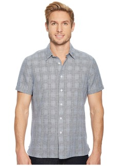 Perry Ellis Glen Plaid Linen Shirt