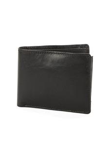 Perry Ellis Gramercy Leather Bi-Fold Passcase Wallet
