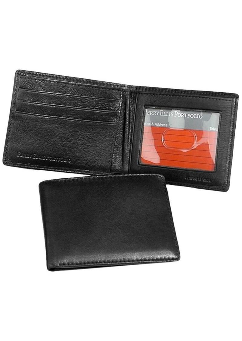 Perry Ellis Gramercy Soft Lambskin Slimfold Wallet