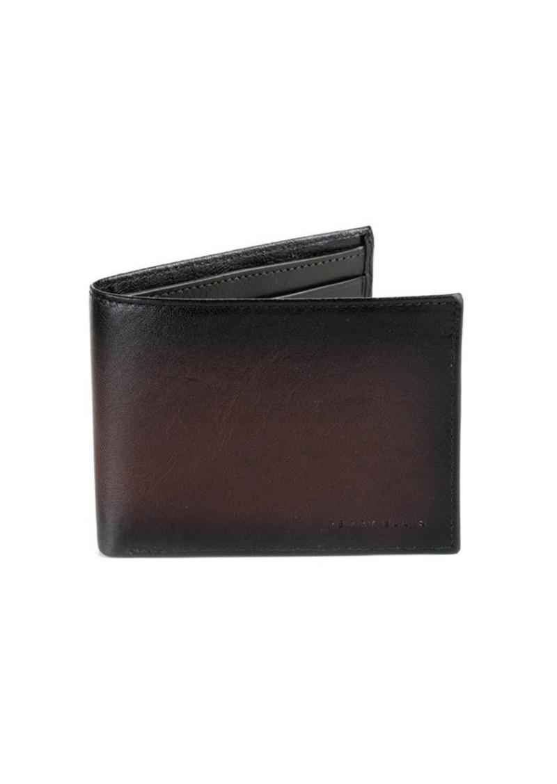 Perry Ellis Slim Leather Bi-Fold Wallet