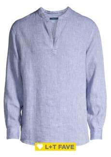 Perry Ellis Linen Popover Shirt