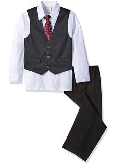 Perry Ellis Little Boys Diamond Dot Dobby Vest Set