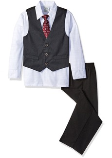 Perry Ellis Little Boys' Toddler Diamond Dot Dobby Vest Set
