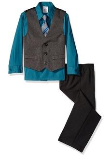 Perry Ellis Little Boys Heather Herringbone Vest Set