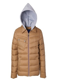 Perry Ellis Little Boys Quilted Jacket with Fleece Hood