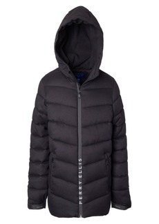 Perry Ellis Little Boys Yarn Dye Quilted Parka