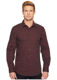 Perry Ellis Long Sleeve Geo Graph Print Dress Shirt