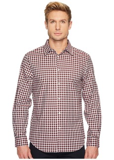 Perry Ellis Long Sleeve Herringbone Check Shirt