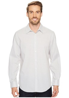 Perry Ellis Long Sleeve Mini Diamond Dot Button Down Shirt