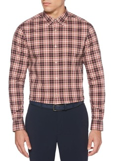 Perry Ellis Long-Sleeve Multicolor Checkered Shirt
