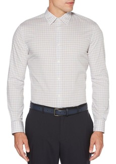 Perry Ellis Long-Sleeve Tattersall Cotton Button-Down Shirt