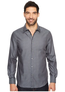 Perry Ellis Long Sleeve Wave Printed Shirt
