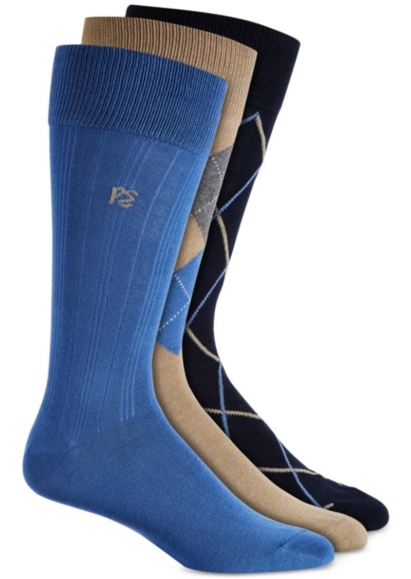 Perry Ellis Men's 3-Pk. Patterned Dress Socks