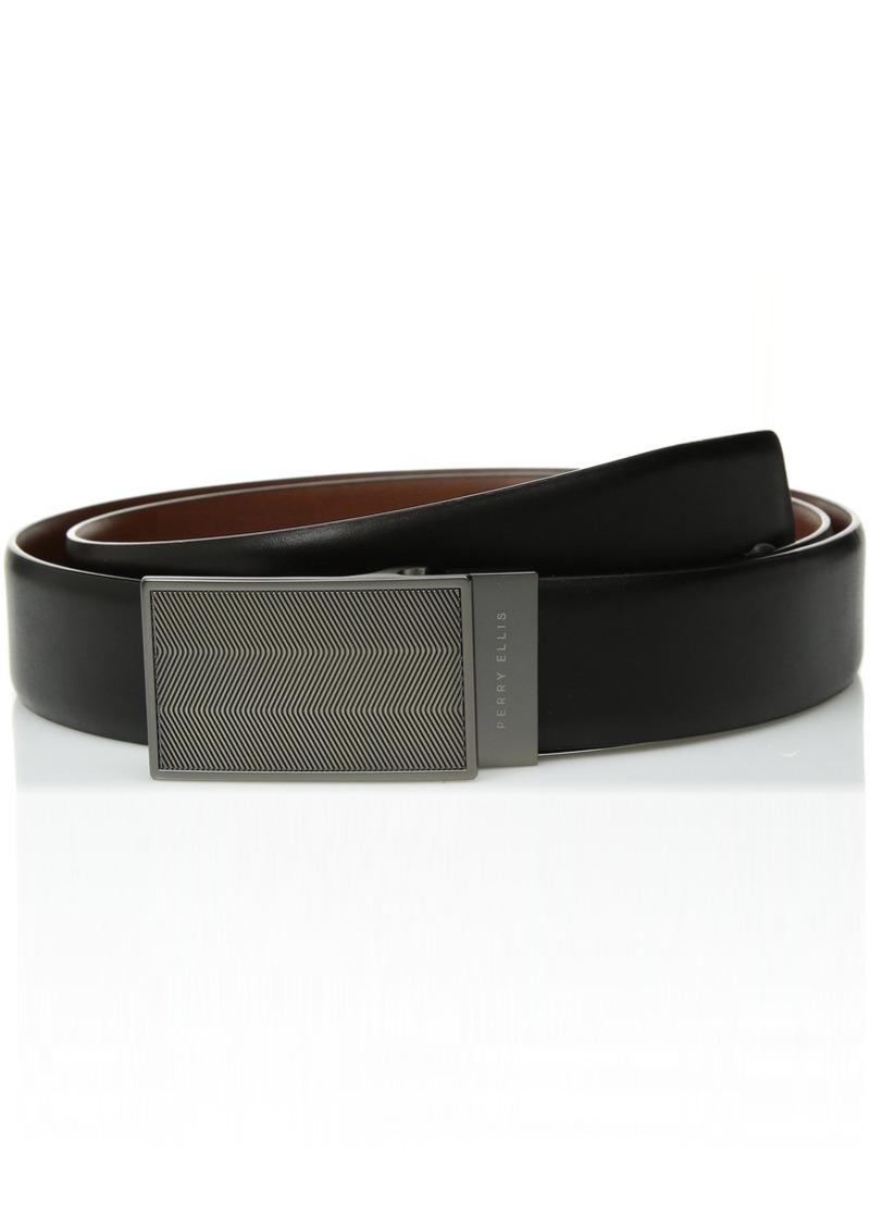 6643f4756a4e Men's 35MM Reversible Herringbone Pattern Plaque Belt