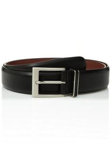 Perry Ellis Men's 35MM Smooth Nappa Leather Belt black
