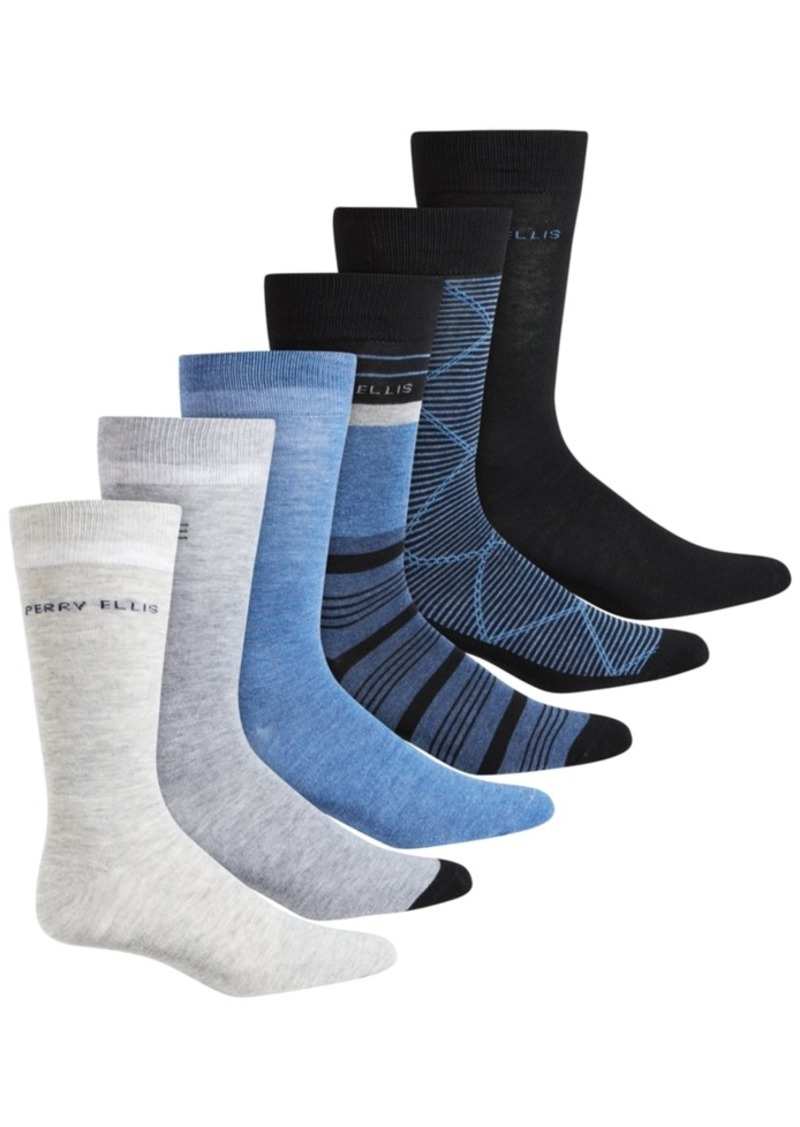 Perry Ellis Men's 6-Pk. Colorblocked Socks