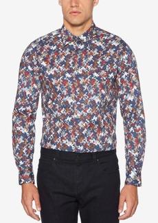 Perry Ellis Men's Abstract Express Pixelated-Print Shirt