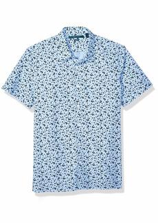Perry Ellis Men's Abstract Floral Print Shirt Eclipse-4EMW7072