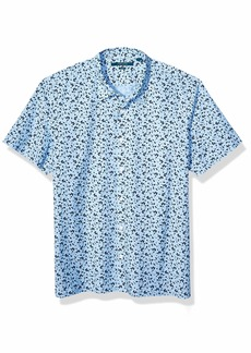 Perry Ellis Men's Abstract Floral Print Shirt  X Large