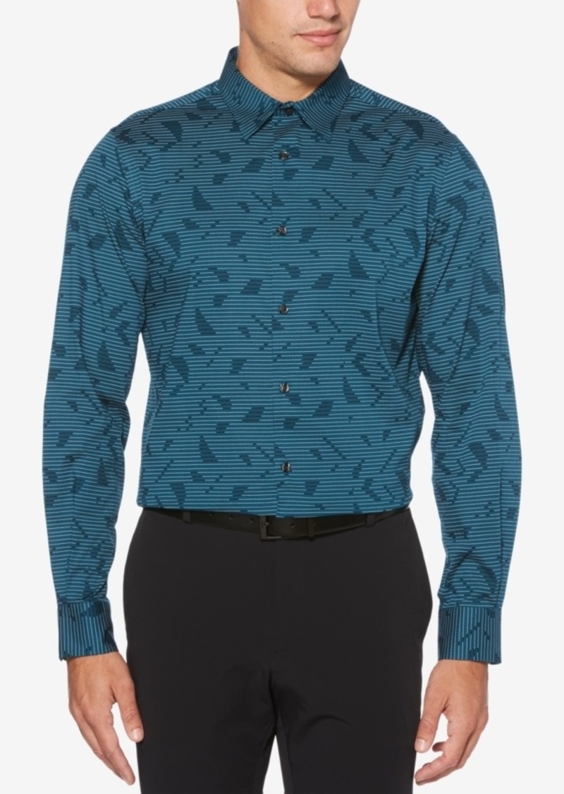 Perry Ellis Men's Abstract Line Printed Shirt