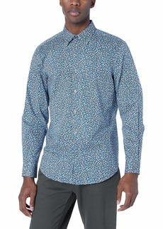 Perry Ellis Men's Abstract Prnited Stretch Shirt Dark Sapphire-4ESW4017 Extra Extra Large