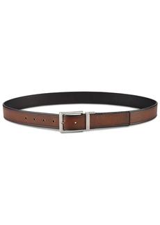 Perry Ellis Men's Beveled-Edge Reversible Leather Belt