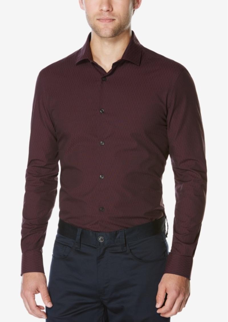 Perry Ellis Men's Big & Tall Long-Sleeve Dobby Shirt
