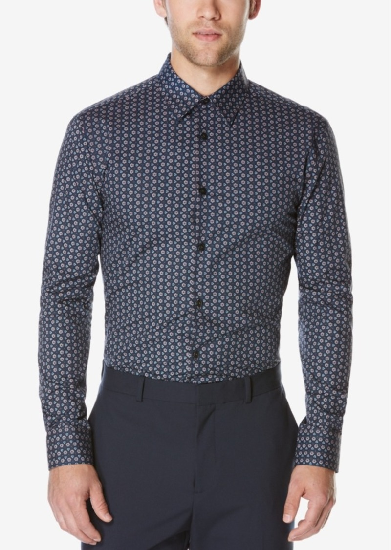Perry Ellis Men's Big & Tall Long-Sleeve Geometric-Print Shirt