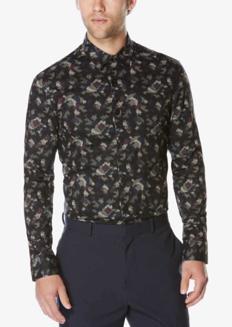 Perry Ellis Men's Big & Tall Long-Sleeve Nebbia Shirt