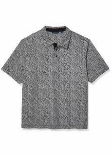 Perry Ellis Men's Big & Tall Pima Cotton Floral Print Short Sleeve Polo Shirt  2X Large