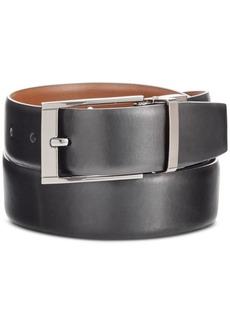 Perry Ellis Portfolio Men's Big & Tall Reversible Leather Belt