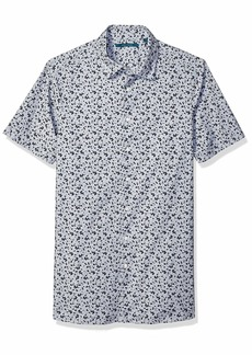 Perry Ellis Men's Big Abstract Floral Print Shirt Eclipse-4EMW7672 4X Large Tall