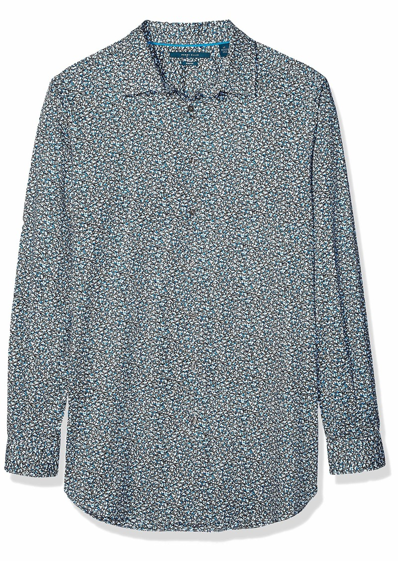 Perry Ellis Men's Big and Tall Abstract Prnited Stretch Shirt  3X Large