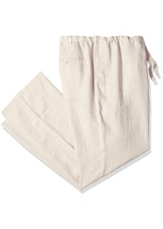 Perry Ellis Men's Big and Tall Big & Tall Linen Drawstring Pant Natural 50W X 32L