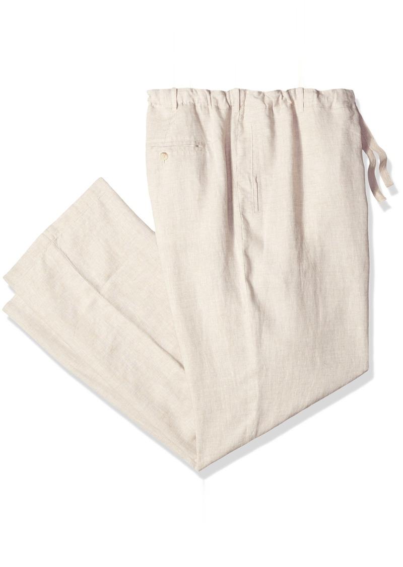 Perry Ellis Men's Big and Tall Big & Tall Linen Drawstring Pant Natural 50W X 32L